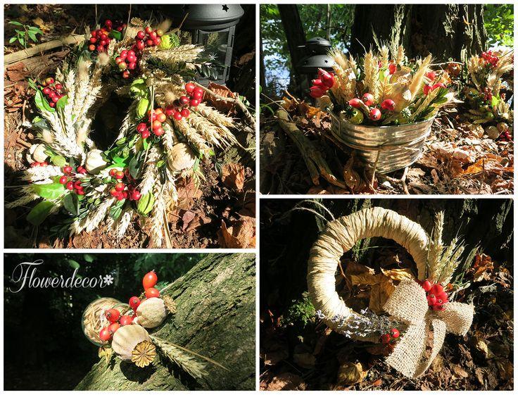 Podzimní dekorace - www.flowerdecor.cz