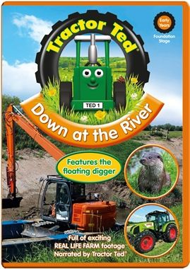 Oct 19 2015: Down At The River DVD - Farmer Tom is busy on the farm. Watch as he drives his big tractor through the river to get to the cows. See some of the animals who call the river their home from the otters who are brilliant swimmers to the shy water voles.Sing along with the massive crane while is sets up the floating platform and lifts a digger high into the air.