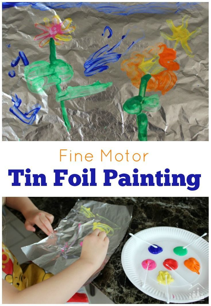 Keep school holidays boredom at bay, with this quick set up Fine Motor Foil Painting activity for kids of all ages to enjoy.