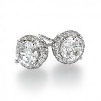 2 carat diamond stud earrings