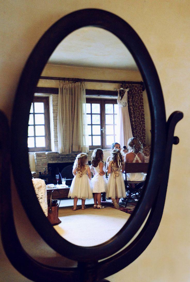 Getting Ready. Child bridesmaid.