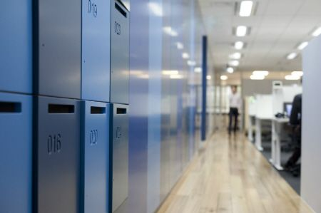Activelocker #interiors #commercial #lockers #design #architecture #blue