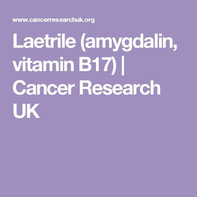 Laetrile (amygdalin, vitamin B17) | Cancer Research UK