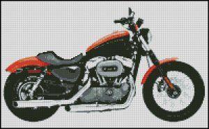 MOTORCYCLE cross stitch pattern