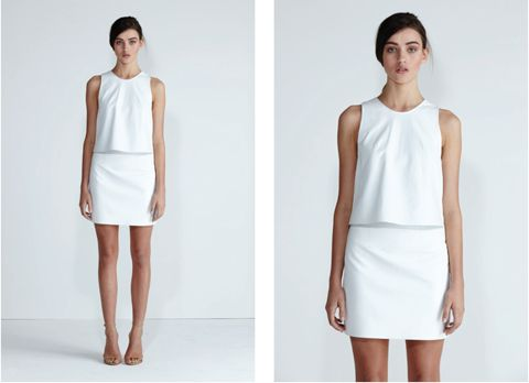 Secret South Spring/Summer 13/14. Desert Pea top and High Tide skirt in White Leather. www.secretsouth.com.au