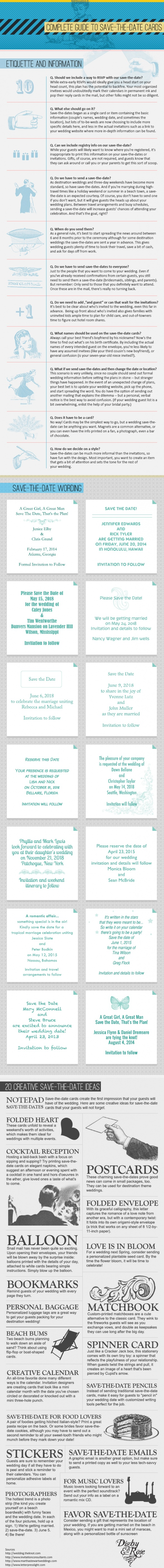 ** Complete Guide To Save-The-Date Cards