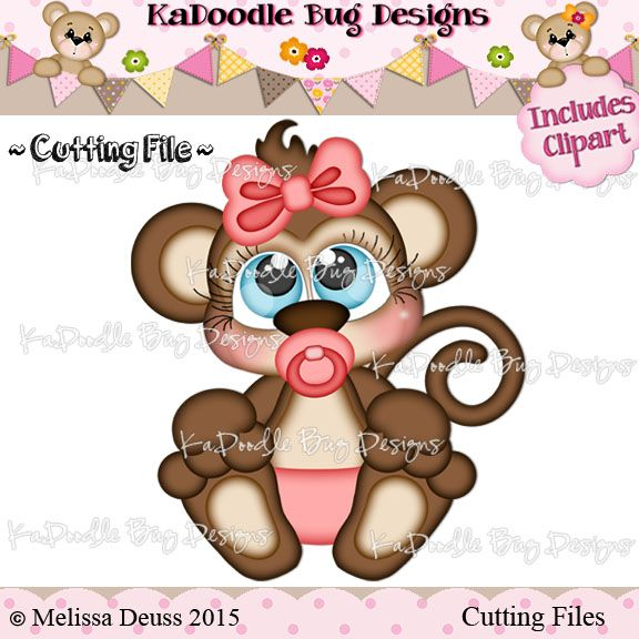 Cutie KaToodles - Baby Girl Monkey http://kadoodlebugdesigns.com/shop/index.php?main_page=product_info&cPath=55&products_id=747