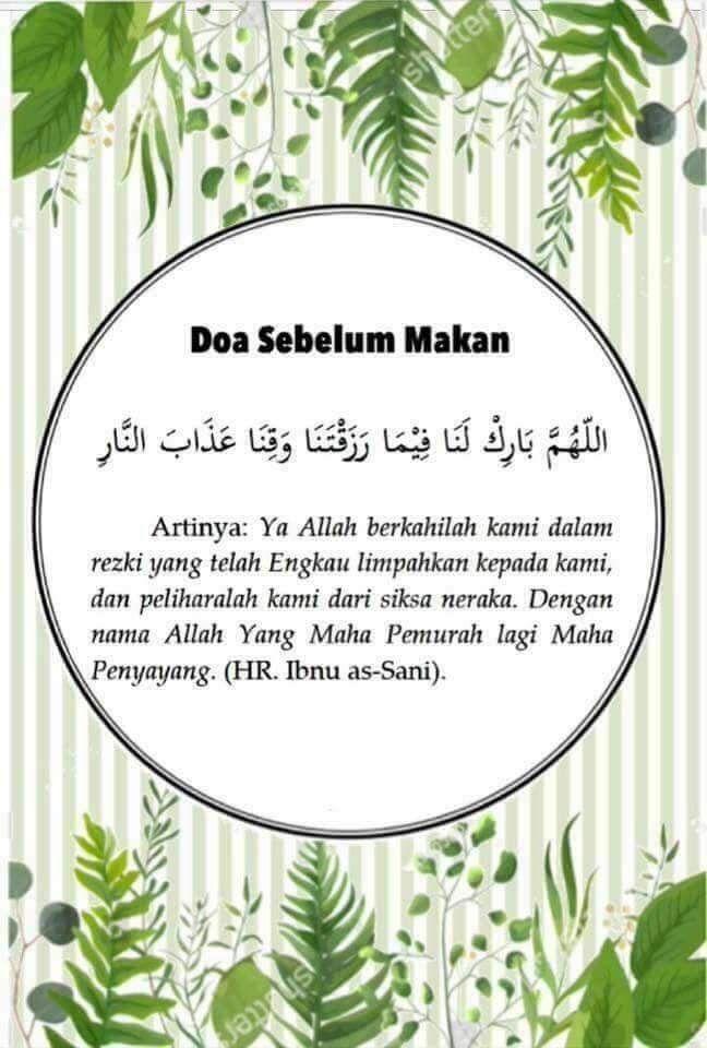 Arti Doa Sebelum Makan : sebelum, makan, Kuyien, Rashid, Printing, Pencetakan,
