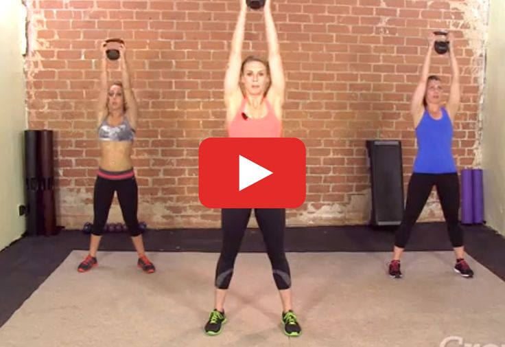 Grab a kettlebell (or a dumbbell) and get stronger in just 30 minutes. #kettlebell http://greatist.com/move/kettlebell-hiit-workout