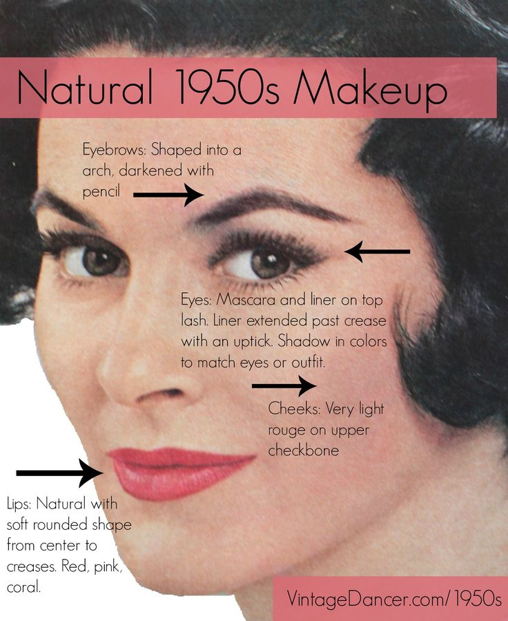 1950s makeup tutorial for creating a natural look using authentic 1950s beauty books as our guide. History and trends in makeup in the fifties.