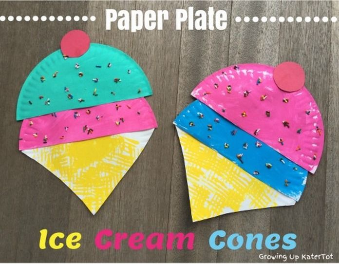 paper plate ice cream craft paper plate cone summer craft for 7023
