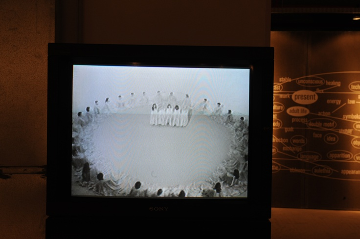"""Jef Cornelis James Lee Byars: World Question Center, 1969 video, 62' © the artist & the producer Courtesy: ARGOS Centre for Art & Media, Brussels. Installation view, 2nd Athens Biennale 2009 """"Heaven"""""""