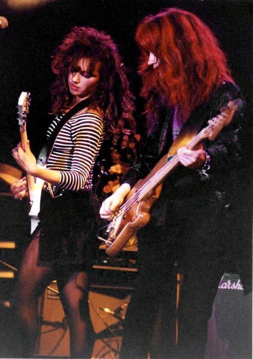 Susanna Hoffs of The Bangles loved to rock the sheer black!
