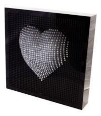 Cuore in plexiglass 3D cm. 50x50 illuminabile in diversi colori by Cavinato acrylics s.a.s. www.cavinatoacrylics.it