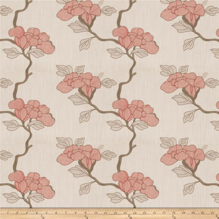 Mount Vernon Asian Floral Linen Blend Lacquer from @fabricdotcom This heavyweight fabric is perfect for window treatments (draperies, valances, curtains and swags), toss pillows, duvet covers and upholstery.