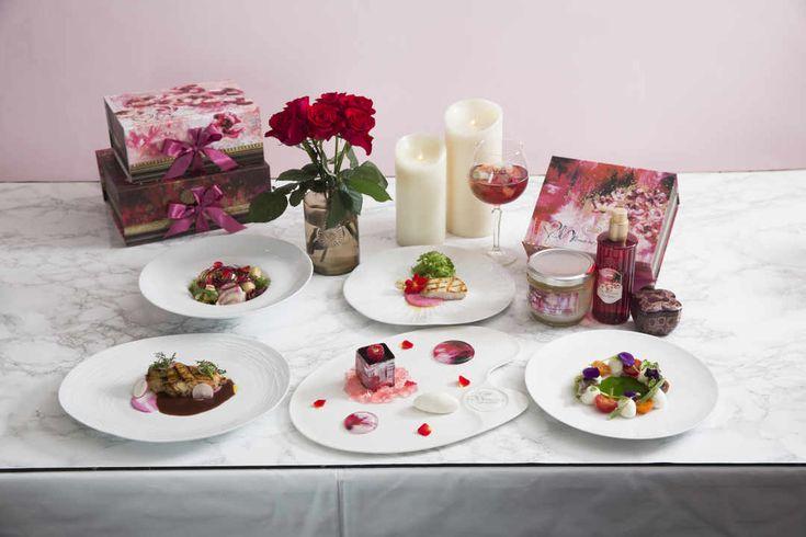 SABONとコラボ!華やかすぎるディナーコース「ローズスプラッシュ」 - macaroni【2020】 ディナー, イベント, スイーツ