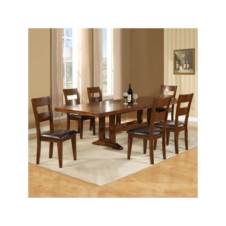 Entertain Family And Friends In Grand Style With Our Enormous 7 Piece Dining Set Includes Room SetsDinning TablesWooden