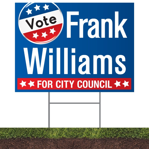"18"" x 24"" yard signs for your political campaign. $4.50Campaign Signage is a must for any candidate so why chance it. Campaign SignShop has been in business for over 30 years.    Yard Sign Specs:   -4MM Coroplast  -Double Sided Printing  -Full Color  -Full Bleed  -Color Match Available  -Free Professional Design"