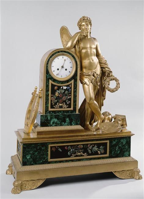 Pierre-Philippe Thomire, Apollo Clock, Museum of the Malmaison and Bois-Préau Castles. #malachite #thomire #malmaison #museum #art