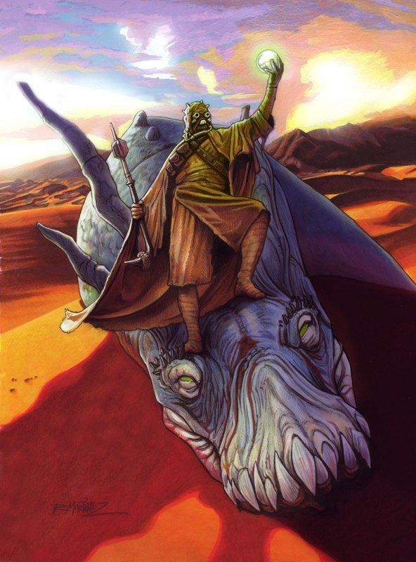 A Tusken Raider claims a pearl from a greater krayt dragon