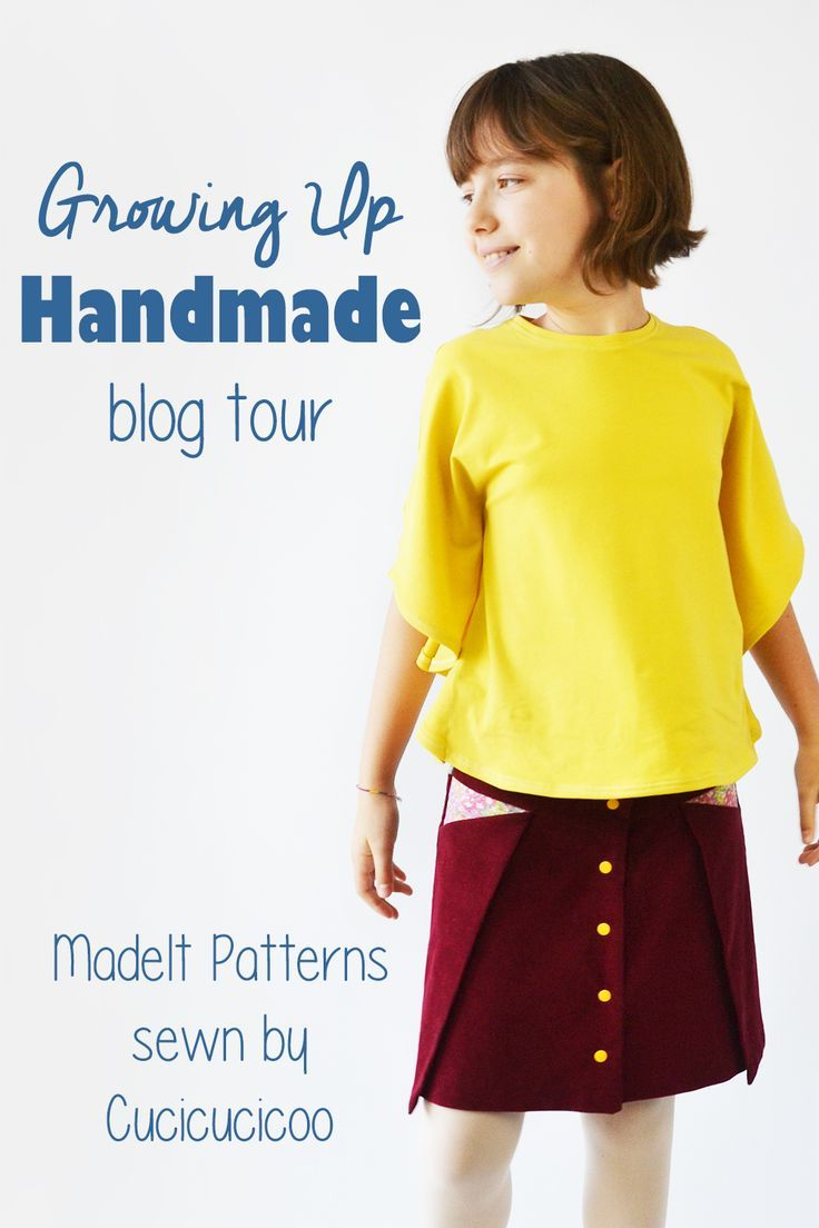 Older kids can be hard to please when it comes to their clothing. The Growing Up Handmade tour shows lots of fantastic pattern options when sewing clothes for tweens and teens! Featuring the Pocket Fold Skirt by Madeit Patterns and the Butterfly Sleeve Tunic, sewn by www.cucicucicoo.com