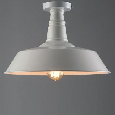 $36 Beautiful Halo - 14'' Wide Single Down Barn Semi Flush Close to Ceiling Light