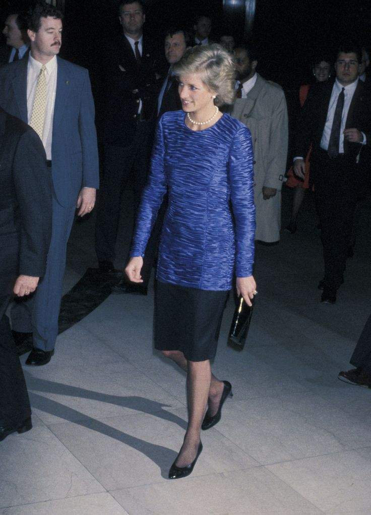 Princess Diana during Dawson International Cocktail Party - February 1, 1989 at The Equitable Center in New York City, New York, United States. (Photo by Ron Galella/WireImage) via @AOL_Lifestyle Read more: https://www.aol.com/article/entertainment/2017/08/31/princess-diana-crash-firefighter-speaks-out/23192433/?a_dgi=aolshare_pinterest#fullscreen