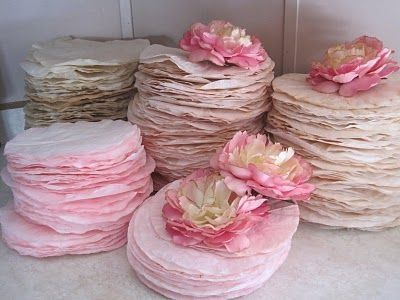 Dying Coffee Filters flowers like peonies! by ruby