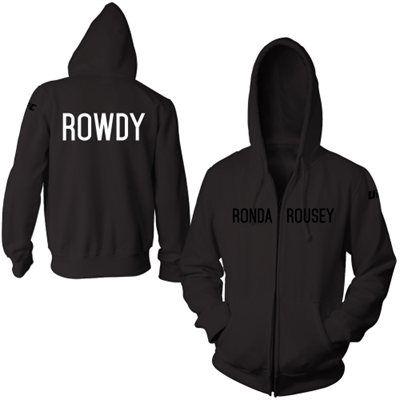 'Rowdy' Ronda Rousey UFC Walkout Full Zip Hoodie – Black