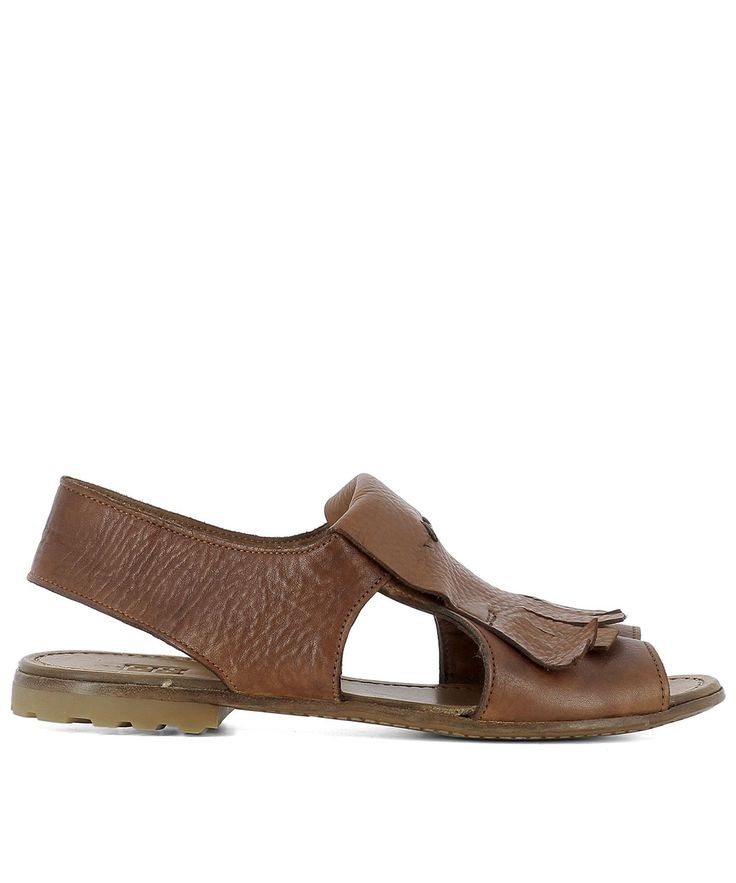 MOMA BROWN LEATHER SANDALS. #moma #shoes #