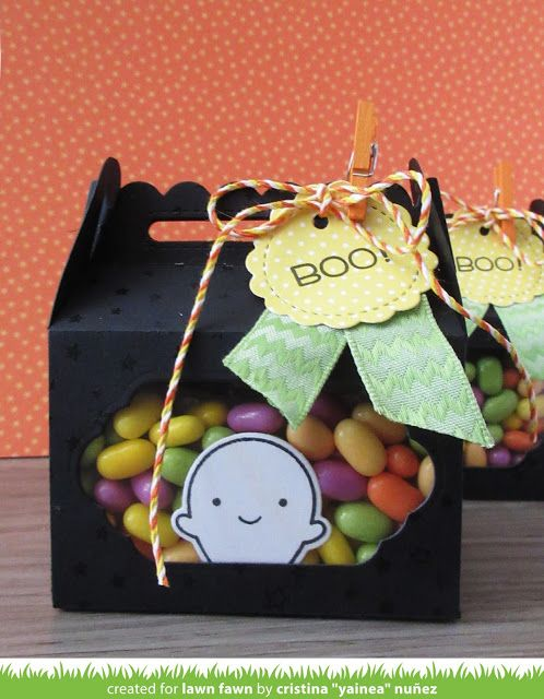 Lawn Fawn Intro: Scalloped Treat Box, Put a Bow on It | the Lawn Fawn blog | Bloglovin'