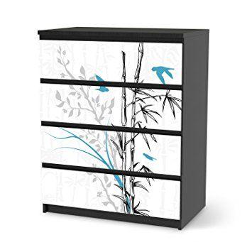 Möbeltattoo Für IKEA Malm 4 Schubladen | Möbeltattoo Klebefolie Sticker  Aufkleber Möbel Renovieren | Home Und