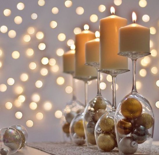 Instead of the balls underneath, maybe do pearls.. to put somewhere as centerpieces since she likes candles