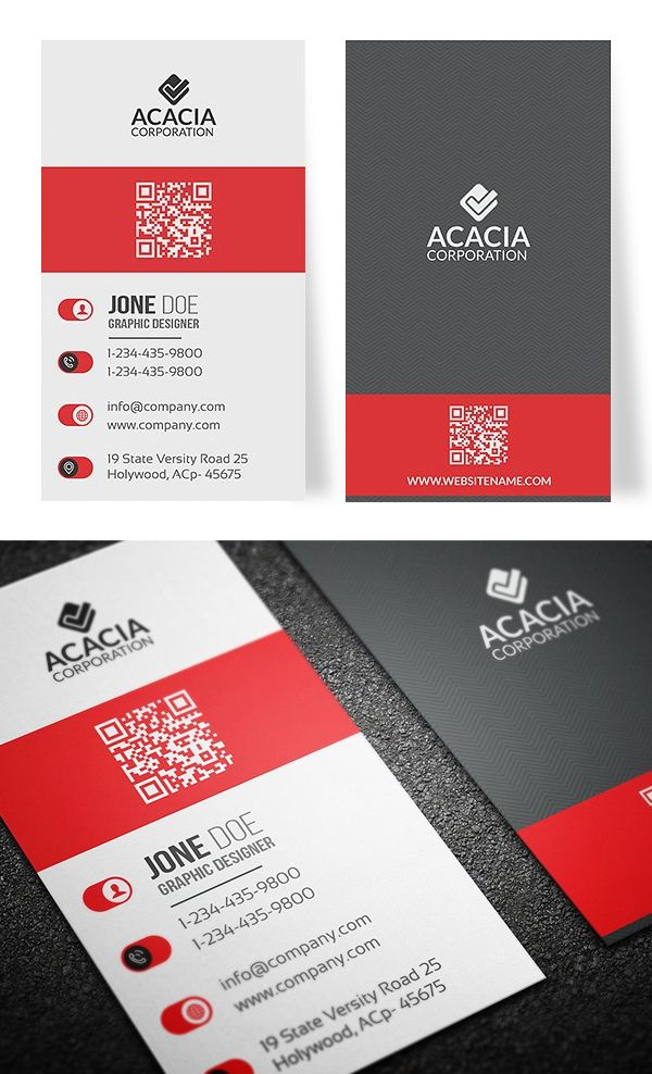 Best Vertical Business Cards Ideas On Pinterest Modern - Vertical business card template