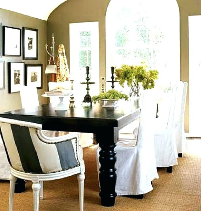 shabby chic dining chair slipcovers dining room