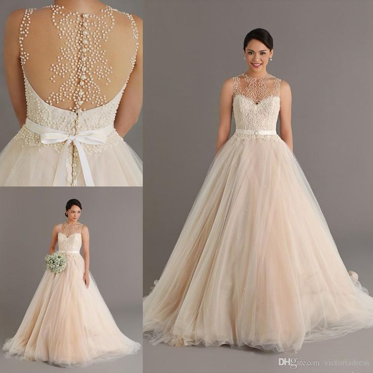 Best Champagne Colored Wedding Dresses Ideas That You Will
