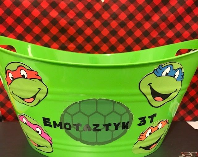 Ninja Turtle Toy Basket, Personalized Basket, Toy Bucket, Gift Basket, Kids Gift, Toy Basket,Lego Basket by ChickenCoopGifts on Etsy