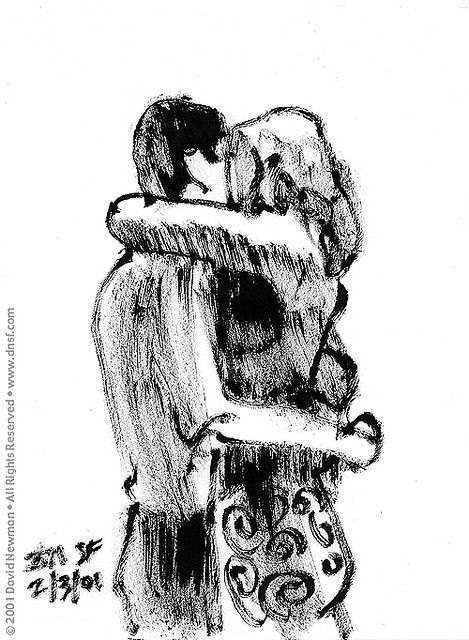 Hugging Couple Drawing 106 best images about ...