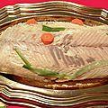 Ce plat est un classique des fêtes dans ma famille. Idéal aussi pour un buffet froid. Tous les ans, on achète un saumon entier à la foire...