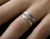 Set of three thin silver bands by colbyjune on Etsy
