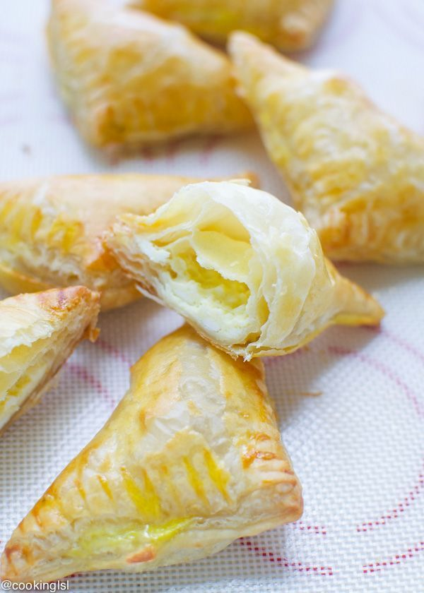 Puff pastry and feta triangles - so simple to make, crispy and delicious!