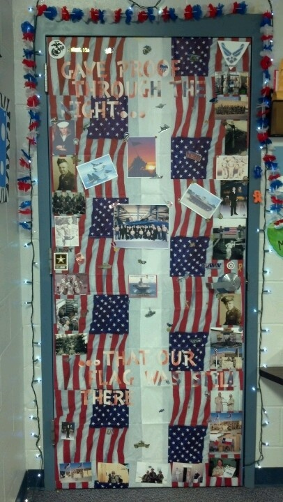Veterans Day Decorated Door 4th Of July And Other
