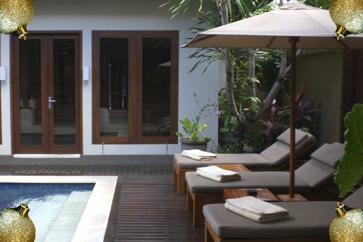 Each villa lies behind tropical walled gardens and has its own sparkling inground pool