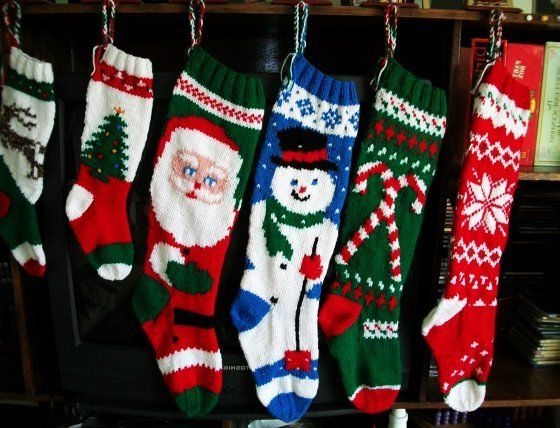 knitted christmas stockings knitted patterns personalized crafts 29133