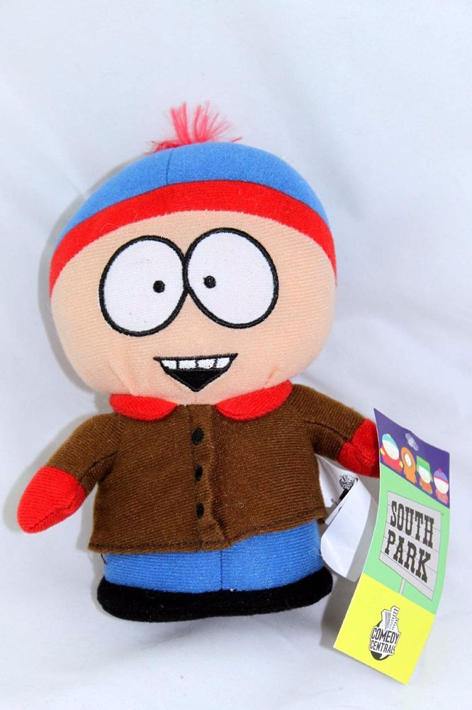 "2008 Comedy Central South Park Stan 7"" Plush Doll Toy Figure NWT #Disney"