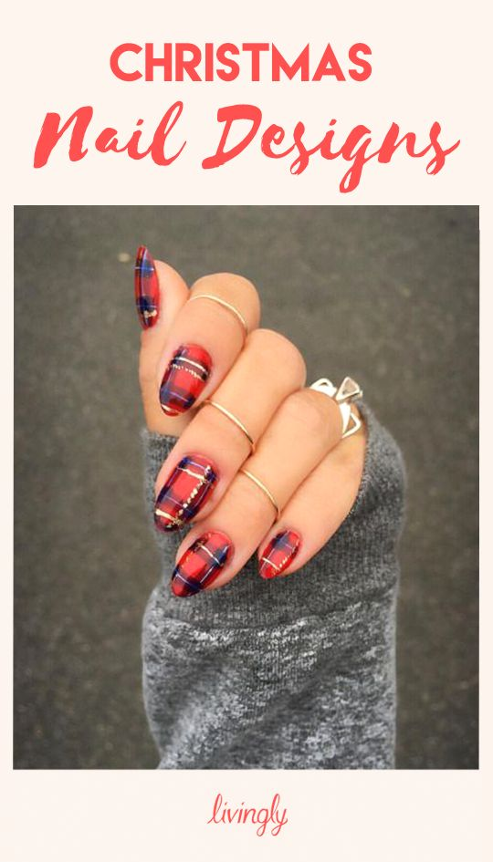 Get festive with these Christmas nail designs.