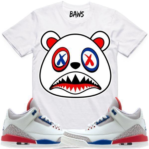 5e54d8df723 Baws T-Shirt USA BAWS Sneaker Tees Shirt - Jordan 3 International Flight