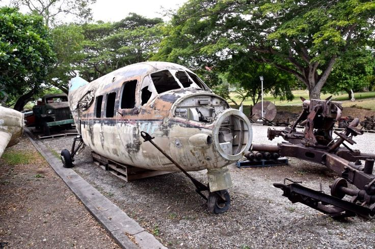 WWII war relic in the Port Moresby National Museum    http://www.pagahillestate.com/exploring-world-war-ii-relics/