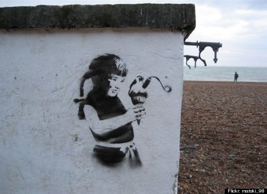 Street art involving food: Girl, Graffiti, Street Art, Ice Cream, Cream Bomb, Banksy Street, Bansky, Drawing, Streetart