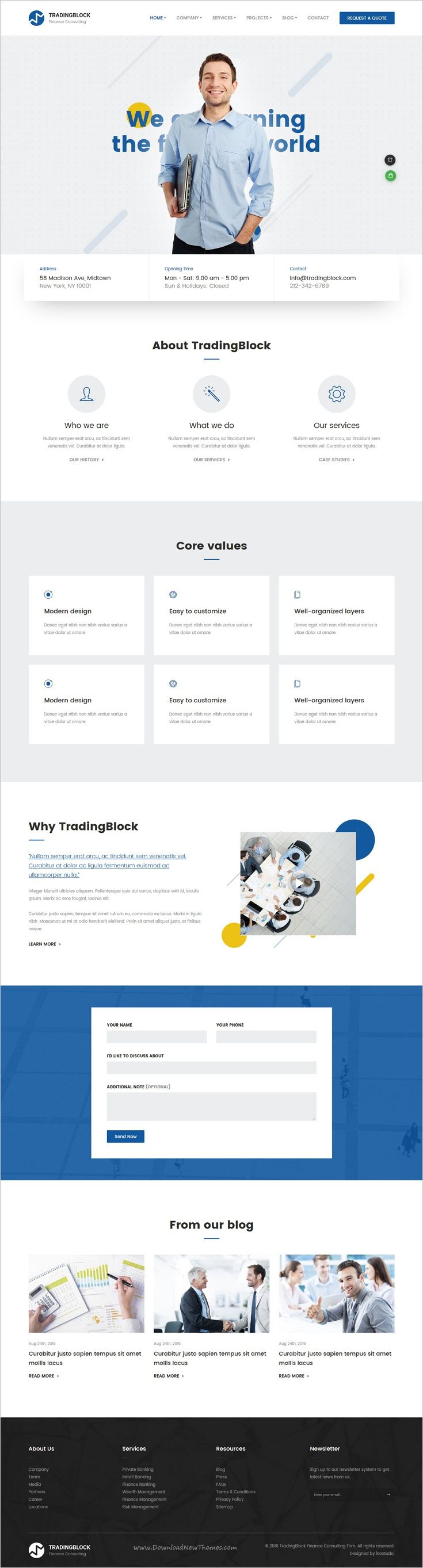 Tradingblock is a wonderful 8in1 responsive #Bootstrap template for financing, consulting, #accounting services & other related niches in the industry websites download now➩ https://themeforest.net/item/finance-business-html-responsive-template-tradingblock/18953353?ref=Datasata